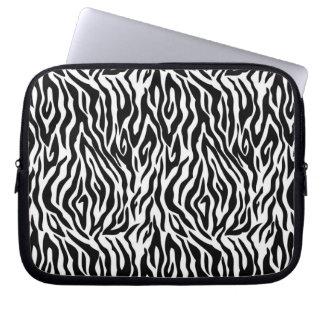 Svartvit zebra tryck laptop datorskydd