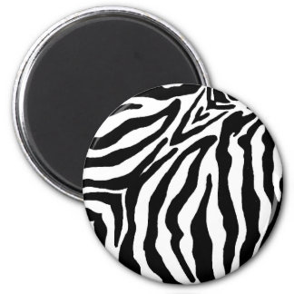 Svartvit zebra tryck magnet