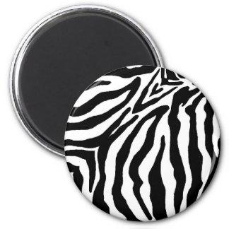 Svartvit zebra tryck magnet rund 5.7 cm