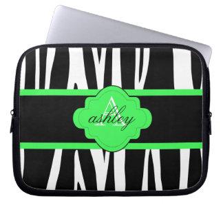 Svartvit zebra trycklaptop sleeve laptopfodral