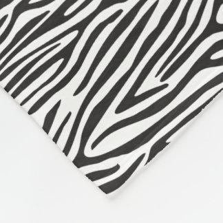 Svartvit zebra tryckullfilt fleecefilt
