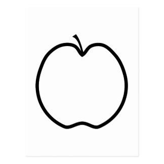 Svartvita Apple. Vykort
