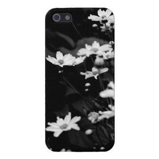 Svartvita artsy blommor iPhone 5 hud