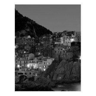 Svartvita Cinque Terre Vykort