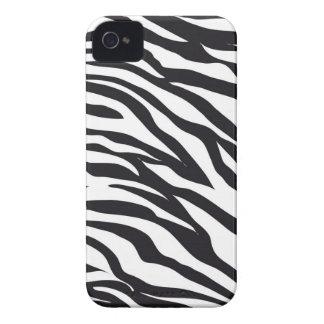 Svartvita gåvor för zebra rändertryckmönster iPhone 4 Case-Mate case