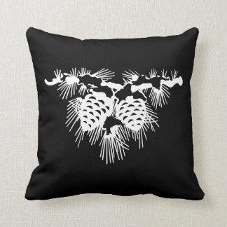 svartvita gräskottar kudde