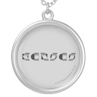 (Svartvita) KANSAS, Silverpläterat Halsband