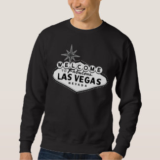 Svartvita Las Vegas undertecknar Sweatshirt
