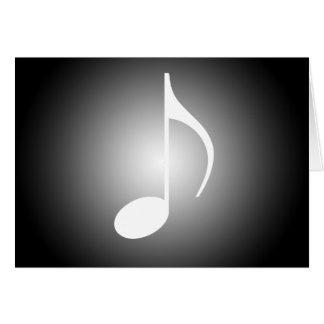 Svartvita musiker hälsningskort