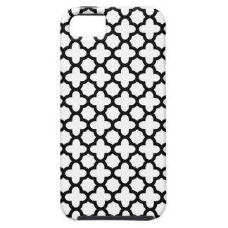 Svartvita Quatrefoil iPhone 5 Cases