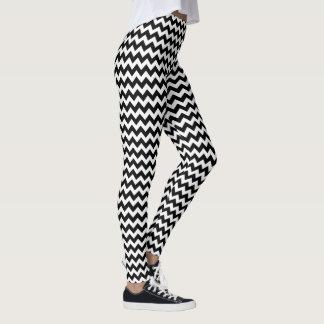 svartvita sparrerandar leggings