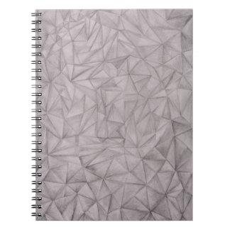 svartvita trianglar anteckningsbok