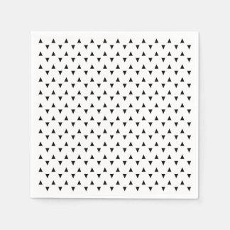 Svartvita trianglar pappersservett
