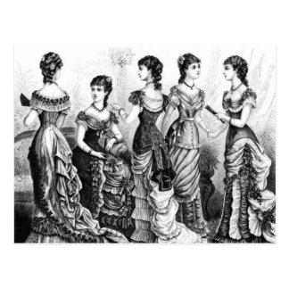 Svartvita Victorianmodeer Vykort