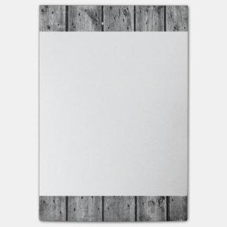 Svartvita Wood Planked 4x6 som Posta-Det noterar Post-it Block