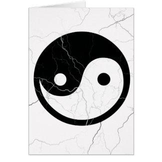 Svartvita Yin och Yang Hälsningskort