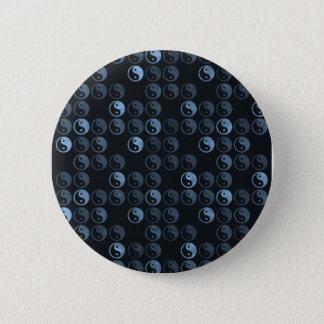 Svartvita Yin Yang Standard Knapp Rund 5.7 Cm