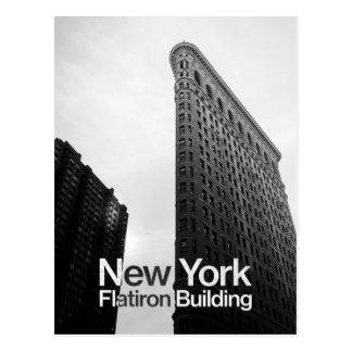 svartvitt av Flatiron byggnad Vykort
