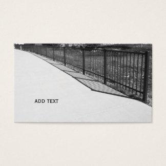 svartvitt avbilda av ett svart staket visitkort