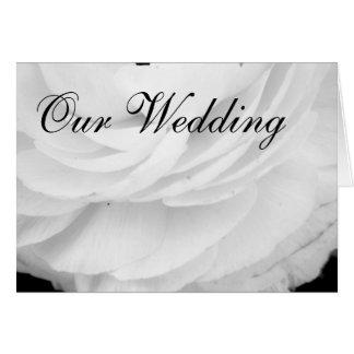 Svartvitt bröllop för klassiker hälsningskort