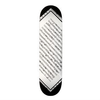 Svartvitt däck 1 för musikmönsteranpassade skateboard bräda 20 cm