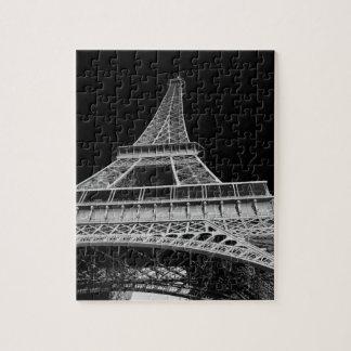 Svartvitt Eiffel torn Pussel