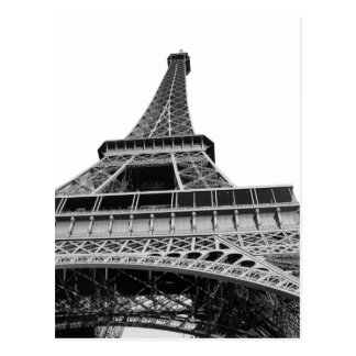 Svartvitt Eiffel torn Vykort