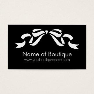 Svartvitt flickaktigt band för modern Boutique Visitkort