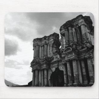 Svartvitt fördärvar av Antigua Guatemala Musmatta