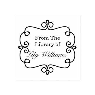 Svartvitt från bibliotek av bokägarmärken gummistämpel