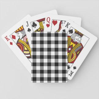 Svartvitt Ginghammönster Spelkort