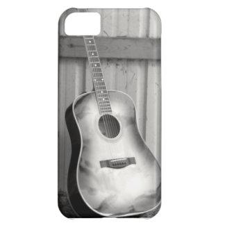 Svartvitt gitarrtelefonfodral iPhone 5C fodral