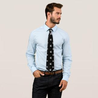 Svartvitt gulligt mönster för tryck för slips