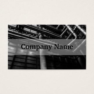 Svartvitt industriellt rör, arkitektur visitkort