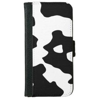 Svartvitt komönster iPhone 6/6s plånboksfodral