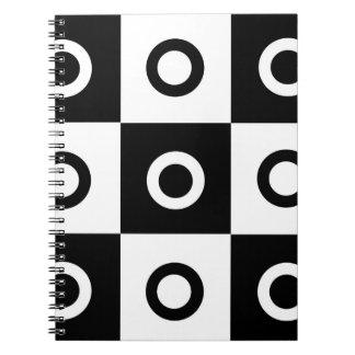 Svartvitt kontrollörmönster anteckningsbok