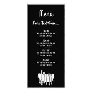 Svartvitt kort för kugge för Siverware designmeny
