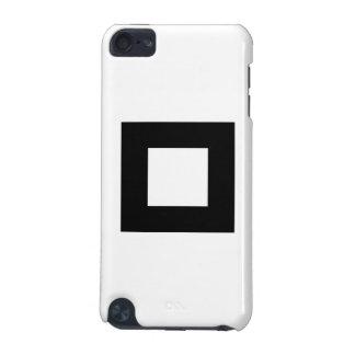 Svartvitt kvadrera designen iPod touch 5G fodral