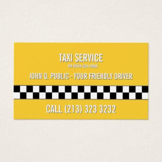 Svartvitt mönster för taxiCabchaufför Visitkort