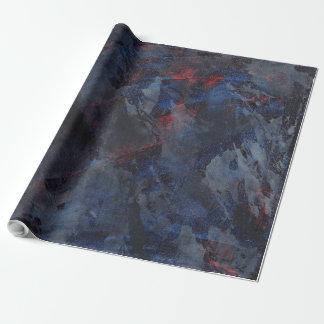 Svartvitt på blått och röd bakgrund presentpapper