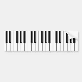 Svartvitt piano bildekal