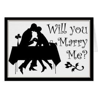 Svartvitt som ska dig, att gifta sig mig kortet hälsningskort