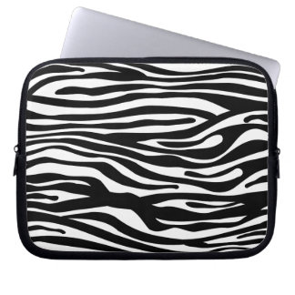 Svartvitt zebra tryckmönster - datorskydds fodral