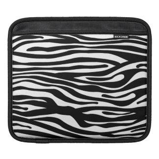 Svartvitt zebra tryckmönster - iPad sleeve
