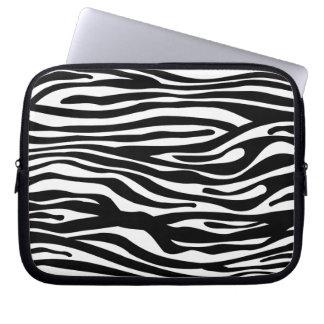Svartvitt zebra tryckmönster - laptopskydd fodral