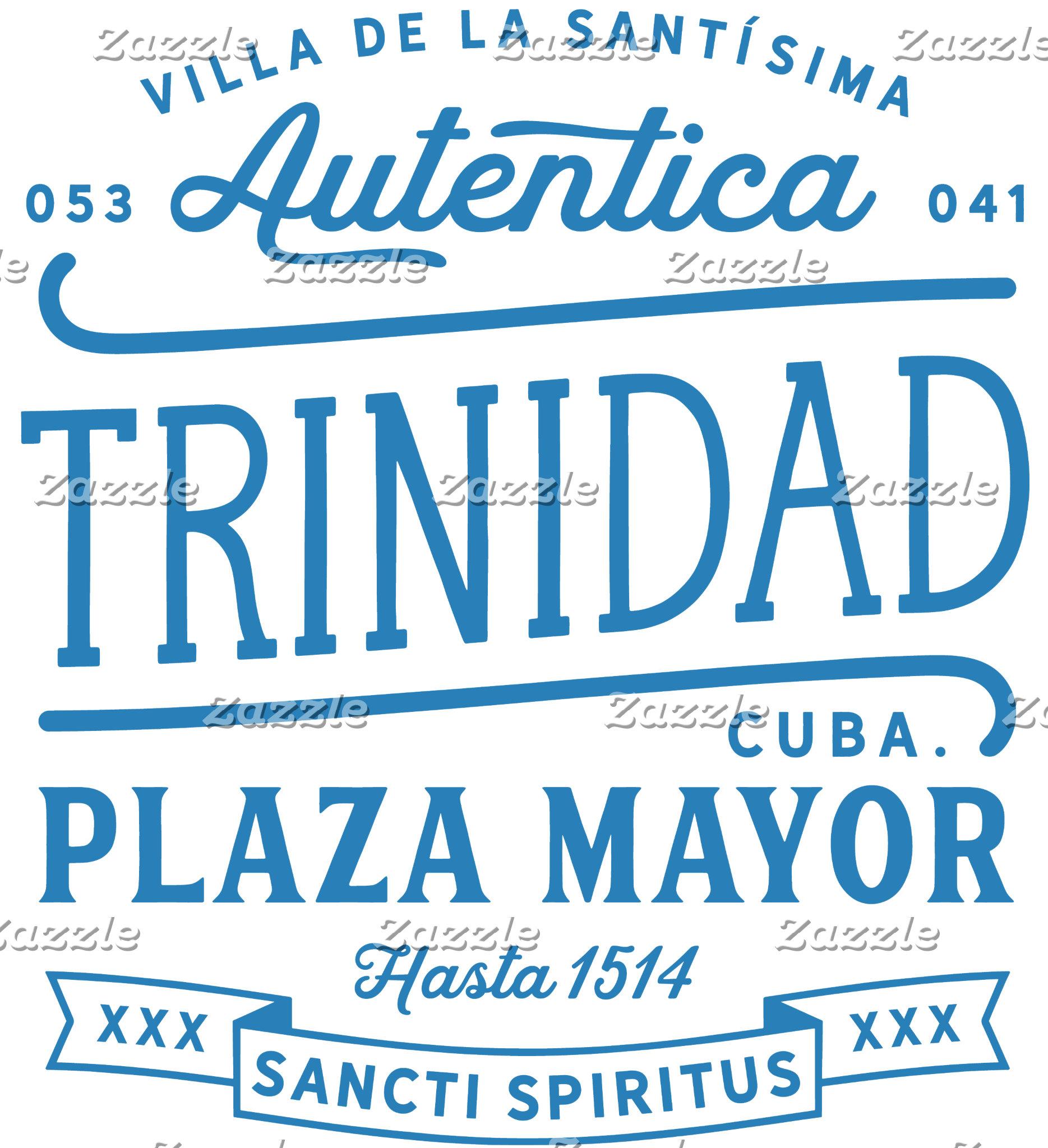Trinidad Cuba Autentica Logo Badge