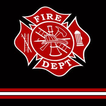 Fire Dept Black & Red