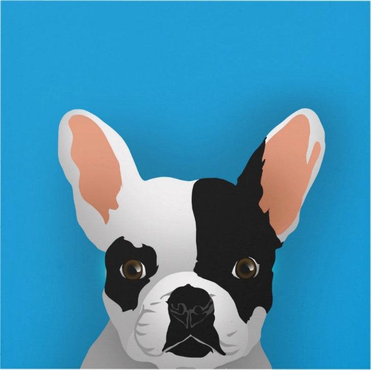 Bulldog art - french bulldog