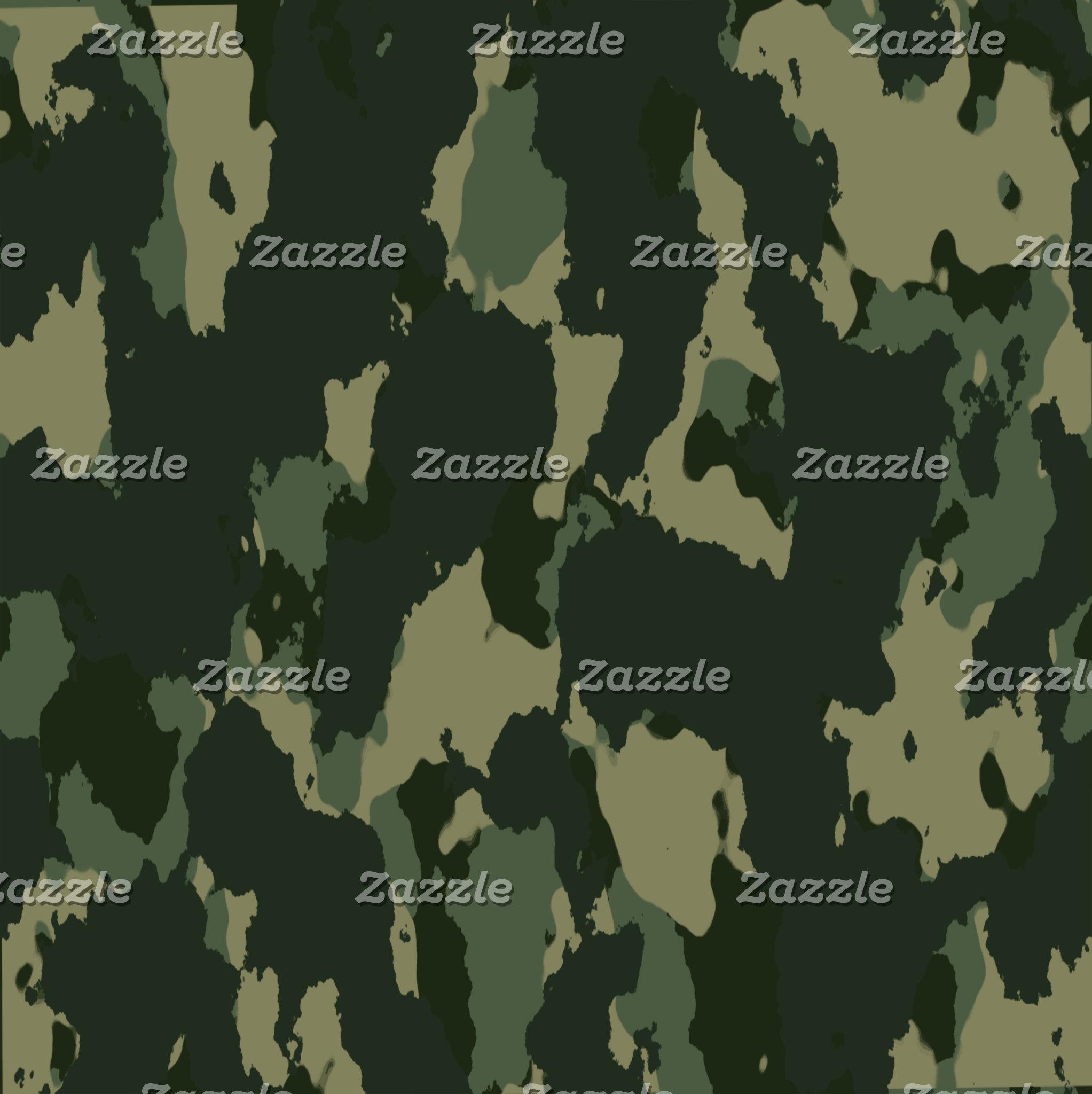 Dark Green Camouflage Design