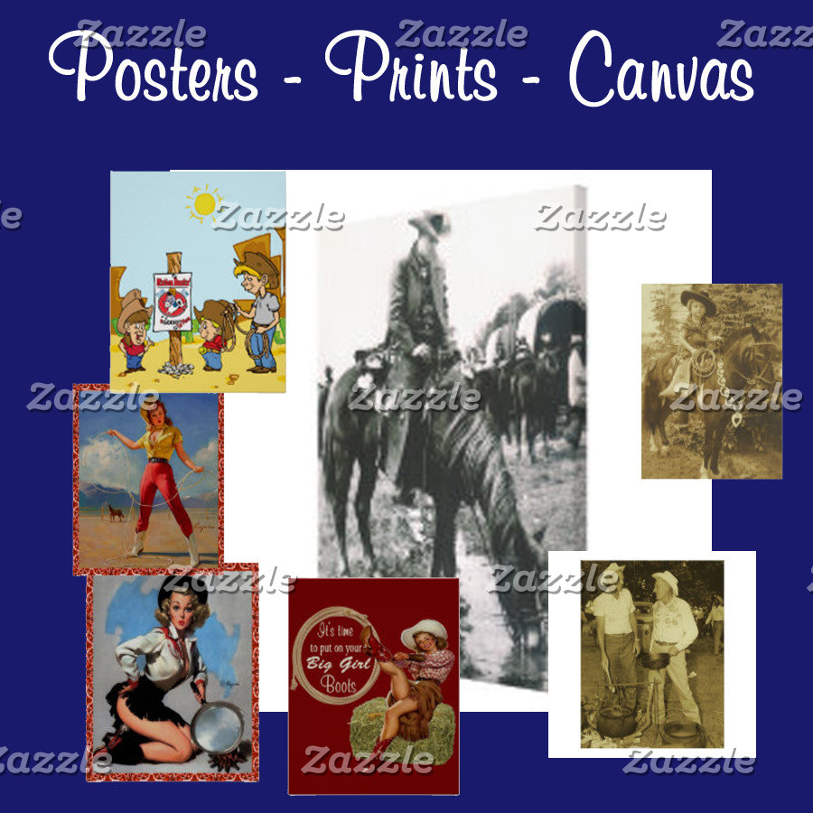 Western Posters & Canvas